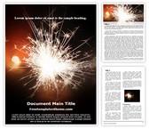 Free Sparkles Word Template Background, FreeTemplatesTheme