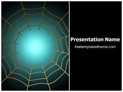 Free spider web network powerpoint template freetemplatestheme slide1g toneelgroepblik Image collections