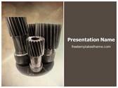 Free Spiral Gears Drive PowerPoint Template Background, FreeTemplatesTheme