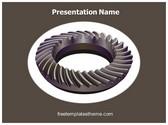 Free Spiral Gears PowerPoint Template Background, FreeTemplatesTheme