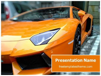 Free Sports Car Powerpoint Template Freetemplatestheme