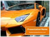 Free Sports Car PowerPoint Template Background, FreeTemplatesTheme