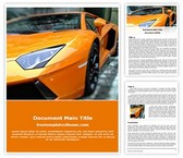 Free Sports Car Word Template Background, FreeTemplatesTheme