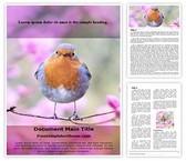 Free Spring Bird Word Template Background, FreeTemplatesTheme