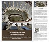 Free Staircase Word Template Background, FreeTemplatesTheme