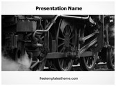 Free Steam Engine Train PowerPoint Template Background, FreeTemplatesTheme