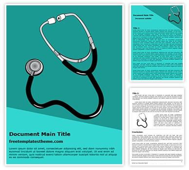 Free Stethoscope Word Template Freetemplatestheme Com