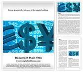 Free Stock Exchange Word Template Background, FreeTemplatesTheme