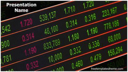 Stock Market Board Free PPT Template Widescreen FreeTemplatesTheme
