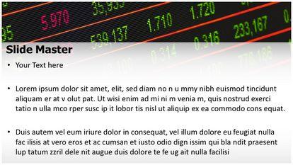 Stock Market Board Free PPT Template Widescreen Slide2