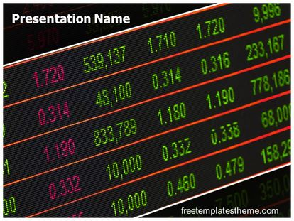 Stock Market Board Free PPT Template freetemplatestheme.com
