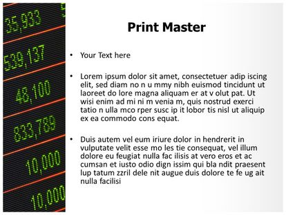 Stock Market Board Free PPT Template Slide3