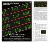 Free Stock Market Board Word Template Background, FreeTemplatesTheme
