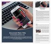 Free Stock Market Investment Word Template Background, FreeTemplatesTheme