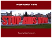 Free Stop AIDS PowerPoint Template Background, FreeTemplatesTheme