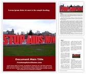 Free Stop AIDS Word Template Background, FreeTemplatesTheme