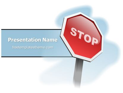 free stop sign powerpoint template
