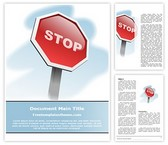 Free Stop Sign Word Template Background, FreeTemplatesTheme