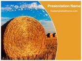 Free Straw Bales PowerPoint Template Background, FreeTemplatesTheme