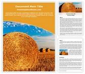 Free Straw Bales Word Template Background, FreeTemplatesTheme