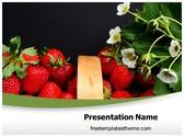 Free Strawberries PowerPoint Template Background, FreeTemplatesTheme