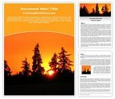 Free Sunrise Word Template Background, FreeTemplatesTheme