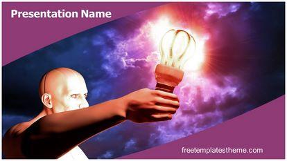Supernatural Power Free PPT Background Template Widescreen, FreeTemplatesTheme