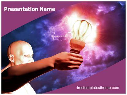 Supernatural Power Free PPT Background Template, freetemplatestheme.com