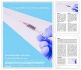 Free Syringe Word Template Background, FreeTemplatesTheme