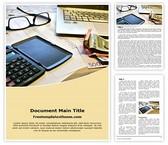 Free Tax Calculation Word Template Background, FreeTemplatesTheme