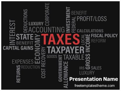 Free Taxes Powerpoint Template Freetemplatestheme