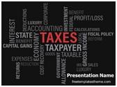 Free Taxes PowerPoint Template Background, FreeTemplatesTheme