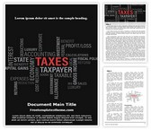 Free Taxes Word Template Background, FreeTemplatesTheme