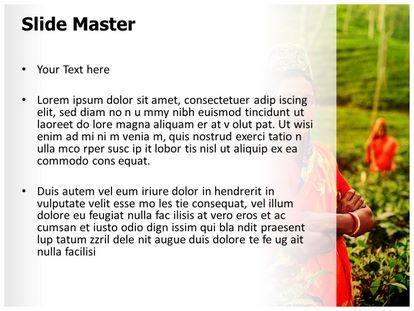 Tea Farmer Free Powerpoint Template Design Slide2