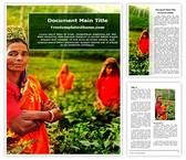Free Tea Farmer Word Template Background, FreeTemplatesTheme