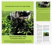 Free Tea Plantation Farming Word Template Background, FreeTemplatesTheme