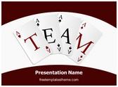 Free Team Cards PowerPoint Template Background, FreeTemplatesTheme