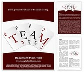 Free Team Cards Word Template Background, FreeTemplatesTheme