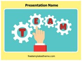 Free Team Gears PowerPoint Template Background, FreeTemplatesTheme