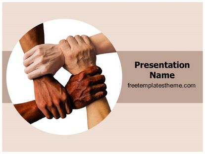 Free Teamwork Unity Powerpoint Template Freetemplatestheme