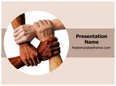 Free Teamwork Unity PowerPoint Template Background, FreeTemplatesTheme