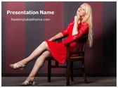Free Thinking Woman PowerPoint Template Background, FreeTemplatesTheme