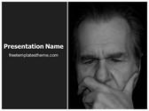 Free Thoughtful Man PowerPoint Template Background, FreeTemplatesTheme