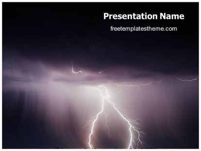 Free thunderstorm powerpoint template freetemplatestheme slide1g toneelgroepblik Gallery