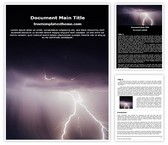 Free Thunderstorm Word Template Background, FreeTemplatesTheme
