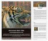 Free Tiger Word Template Background, FreeTemplatesTheme