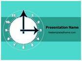 Free Time Clock PowerPoint Template Background, FreeTemplatesTheme
