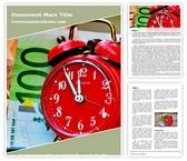 Free Time Money Word Template Background, FreeTemplatesTheme