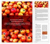 Free Tomato Festival Word Template Background, FreeTemplatesTheme