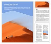 Free Travelling Sand Dune Word Template Background, FreeTemplatesTheme